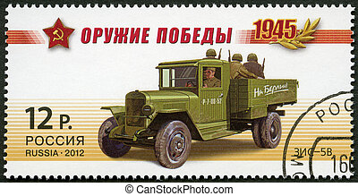 RUSSIA - CIRCA 2012: A stamp printed in Russia shows ZIS-5V,...