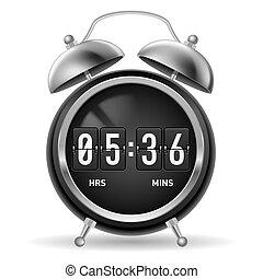 Retro flip alarm clock.