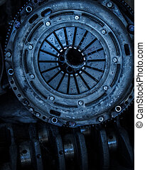 Car clutch disk - Close op of car clutch disk