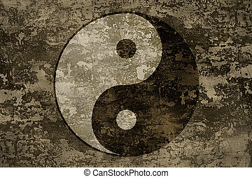 The ancient oriental symbol of yin-yang - The symbols of yin...