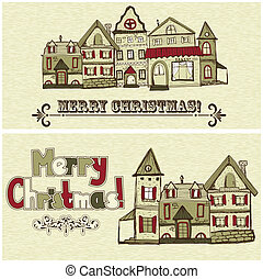 2 vector Christmas Postcards - 2 vector Christmas postcards...