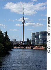 TV-tower in Berlin, Fernsehturm at Alexanderplatz