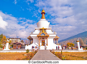 Memorial Chorten in Thimphu - The National Memorial Chorten...