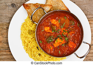 Chicken jalfrezi balti dish - chicken jalfrezi a popular...
