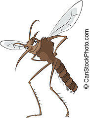 Bad mosquito - Vector image of big evil bad mosquito