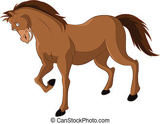 Cartoon Horse - Vector image of funny cartoon smiling horse