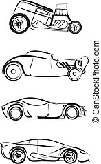 car set - Vector - Vector scroll ornament