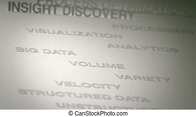 Big Data Concept Animation - Big data related terms concept...