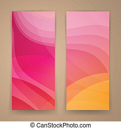 Vector Abstract Banners - Vector Illustration of Two...