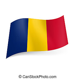 State flag of Romania. - National flag of Romania: blue,...