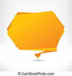 Speech bubble origami style Vector abstract background