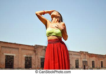 fashion photo of beautiful woman