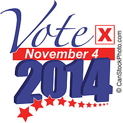 Vote 2014 - 2014 Election Vote Illustration