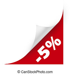 Sale curved corner paper High resolution color illustration...