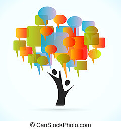 Communication Tree - Communication tree vector concept...