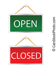 open/closed signs