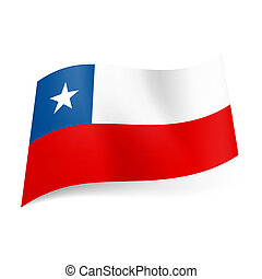 State flag of Chile - National flag of Chile: unequal white...