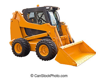 Mini bulldozer - Small bulldozer on a white background