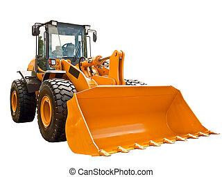 Bulldozer - New bulldozer on a white background