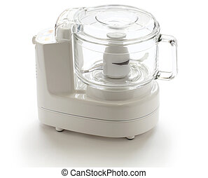 food processor - kitchen equipment isolated on white...