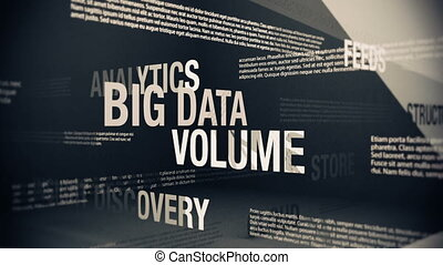 Big Data Related Terms - Seamlessly looping animation...