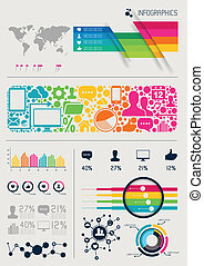 Vector Infographics - Infographics vectors, charts and...