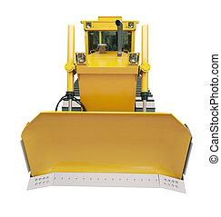 Heavy crawler bulldozer isolated - Heavy crawler bulldozer...