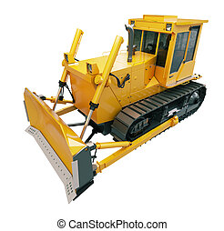 Heavy crawler bulldozer isolated - Heavy crawler bulldozer...