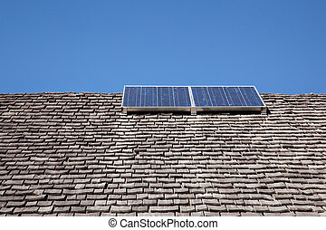 combination of old roof and solar energy - old roof with...