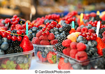 Mixed fruits in the marketplace