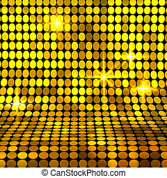 Shiny gold mosaic background