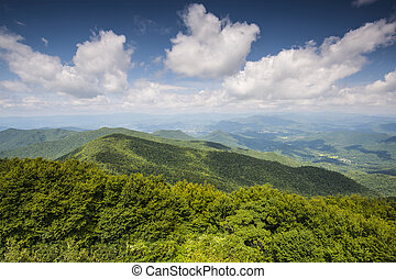 Appalachian Mountains - View of Appalachian mountains in...