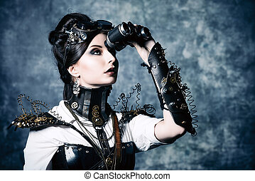 phantasmagoria - Portrait of a beautiful steampunk woman...