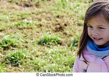 portrait of little girl a