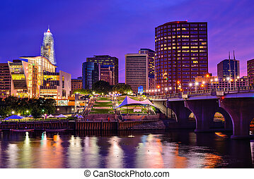 Downtown Hartford, Connecticut Skyline - The skyline of...