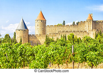 Medieval city of Carcassonne, France