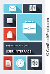 Colorful business UI apps user interface flat icons -...