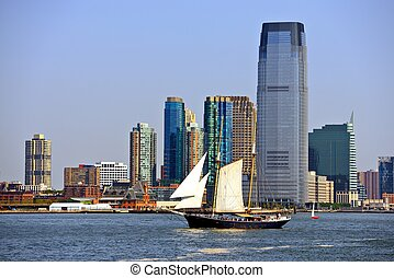 New Jersey - New jersey skyline at Exchange Place.