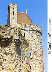 Tower in Carcassonne, France