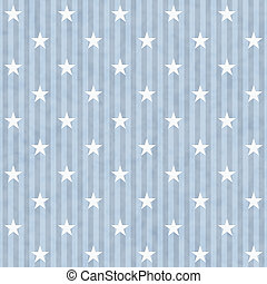 Blue and White Stars and Stripes Fabric Background that is...
