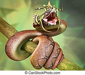 serpiente, corona