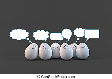 Eggs comunication - Eggs social chat communicating each...