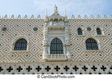 Facade of palace pazzia san marco in venice