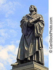 Martin Luther - Bronze statue of german protestant...