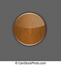 Wood application icon vector illustration