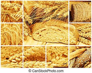 pão, cereais