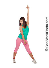 Female athlete doing fitness