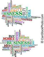 Business tag cloud for marketing and web design