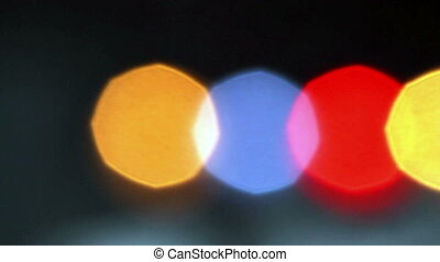 Retro Multicolored Blinking Lights - Multicolored out of...