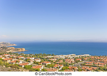 Ocean view luxury homes - Aerial view, Southern California...